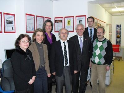 (von links) S. Kul, S. Ergin, Dr. T. Zieschang, Dr. C. Küçükkaraca, F. Leopold, unbekannt, M. Ötün