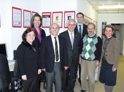 (von links) S. Kul, Dr. T. Zieschang, Dr. C. Küçükkaraca, F. Leopold, unbekannt, M. Ötün, S. Ergin