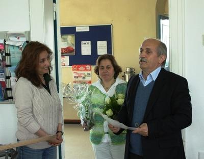 Nagihan Dalkanat, Emine Bitek, Dr. Cebel Küçükkaraca (von links nach rechts)