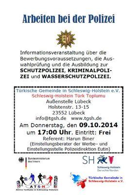 Info Veranstaltung Polizei Lübeck