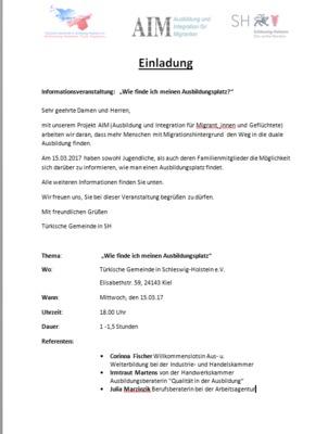 AIM Einladung