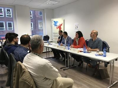 Diskussionsrunde zur Bundestagswahl 2017 -  Direktkandidat_innen bei der TGS-H in Lübeck