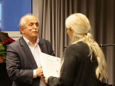 Bergfest 17.01.2019 Dr. Cebel Küçükkaraca ve katılımcılardan Sara Mohamad